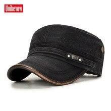 Военная Кепка UNIKEVOW, хлопок, плоская кепка для мужчин, винтажная армейская Кепка, кепка для военного патруля, уличная Кепка с полиуретановым козырьком