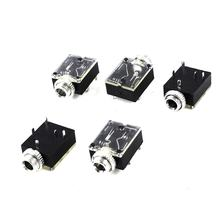 WSFS Hot 5 Pcs 5 Pin 3.5mm Female Audio Stereo Jack Socket PCB Panel Mount(China)