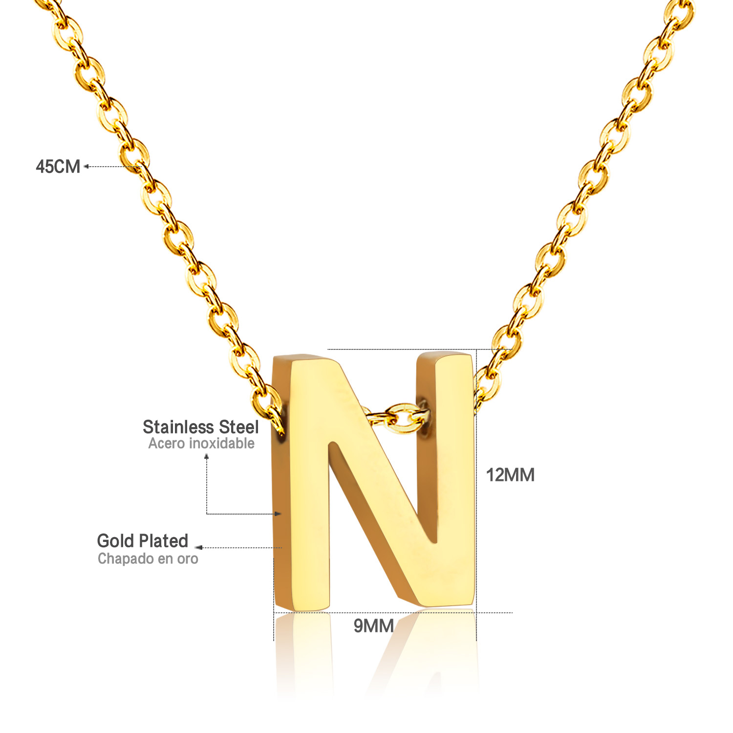 New Letter N Pendant Neclace In Pendant Necklaces From Jewelry Accessories On Aliexpress Com Alibaba Group