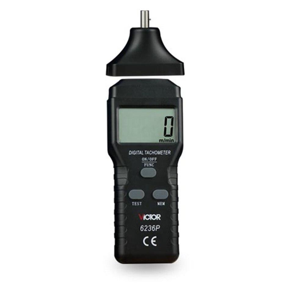 6236 P tachymètre numérique sans contact Rpm mètre 2.5 ~ 99,999 RPM testeur de mesures de vitesse Photo Laser