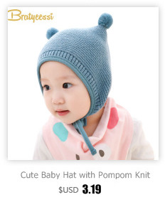 262adb690f5 Knitted Winter Baby Hat with Ears Cartoon Lace-up Children Kids Baby Bonnet