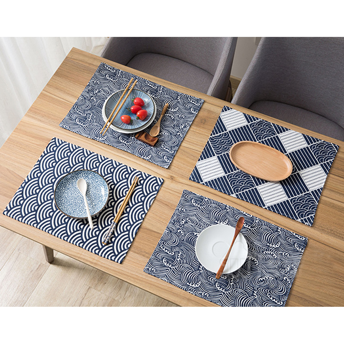 Table Mats Double Layer Totem Household
