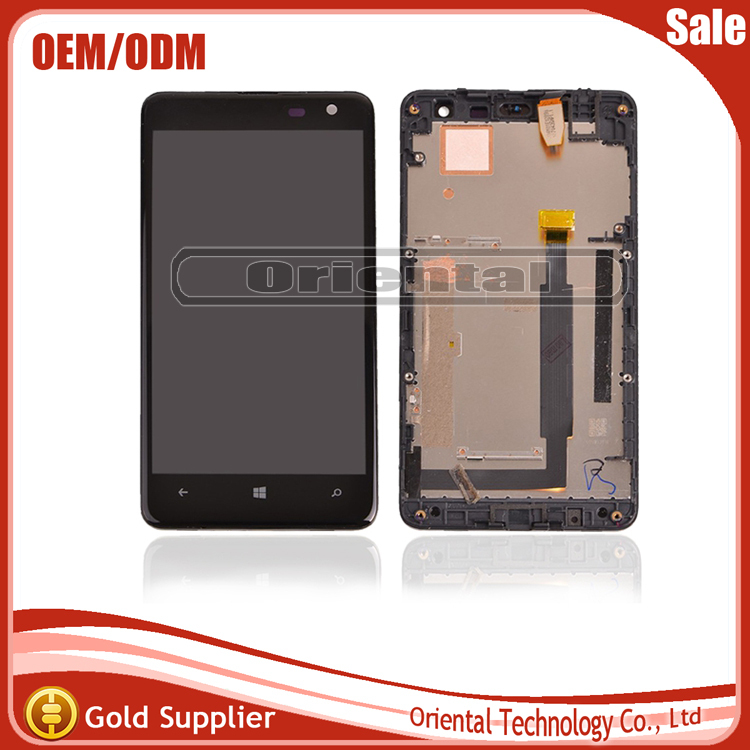 Replacement For Nokia Lumia 625 LCD Display With Touch Screen Digitizer With Frame Full Assembly 1 Piece Free Shipping aaa quality replacement for nokia lumia 920 lcd display with touch screen digitizer assembly with frame free shipping