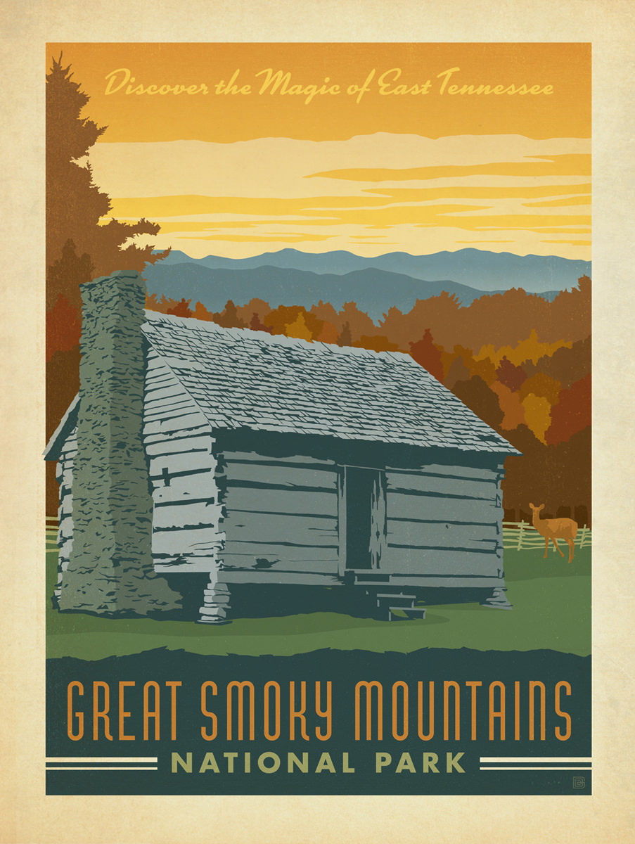 Great Smoky Mountains Maps NPMapscom Just Free Maps Period Hidden - Map of us national parks poster