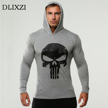 punisher 3d print men sporting hoodies fashion gyms Long sleeves male moletons brand bodybuilding cotton colothing tracksuit