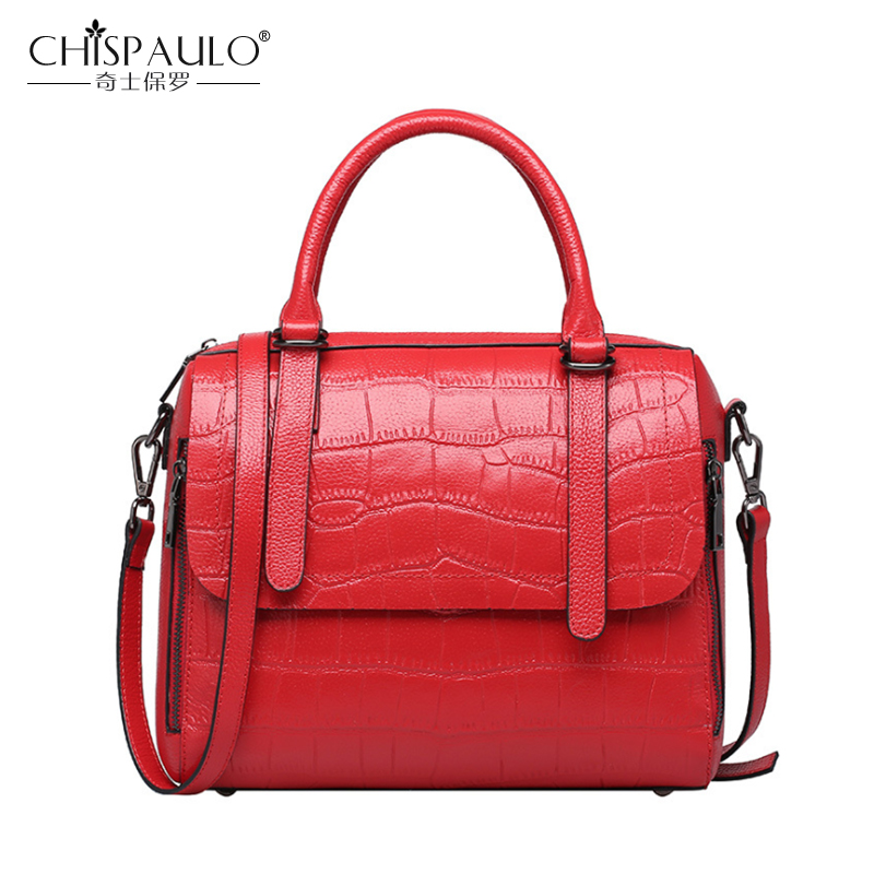 Genuine Leather Women Bags Crocodile Pattern Ladies Handbags High Quality Natural Leather Shoulder Bags Female Crossbody Bags high quality women handbags crocodile pattern leather fashion shopper tote bags female luxurious lady bags