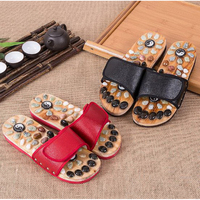 170601 Foot Magnet Stone Pebbles Massage Slippers Foot Care Men And Women Foot Soles Massage Shoes