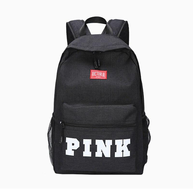 Pink Backpack Bags School-Bag Rucksack Girls Travel New Soft Letter Zipper Funnly Boys