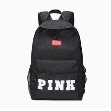 New School Bag Pink Backpack Letter Funnly Love Pink Bags Zipper Travel Soft School Backpack Rucksack Girls Boys Backpack Set все цены