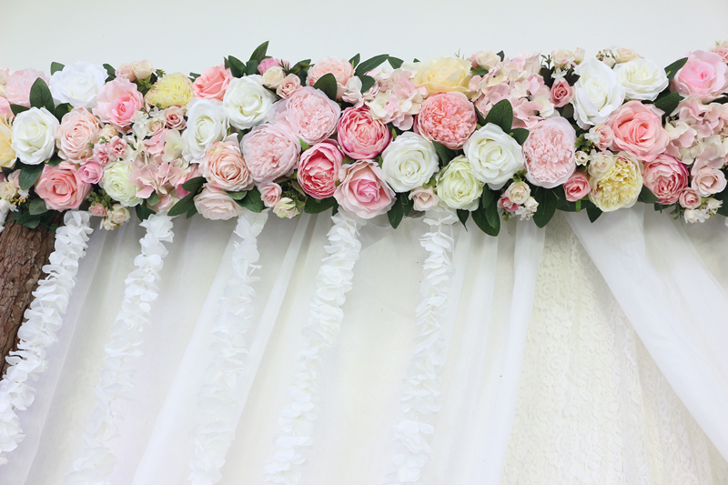 JAROWN Artificial 2M Rose Flower Row Wedding DIY Arched Door Decor Flores Silk Peony Road Cited Fake Flowers Home Party Decoration Maison (35)