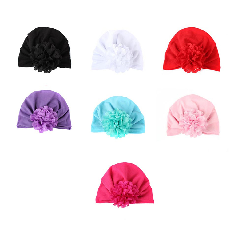 New Unisex Baby Flower Hat Newborn Girl Cotton Soft Cute Hats Beanie Cap Toddler Infant Spring Hat Children Accessoriesbrob