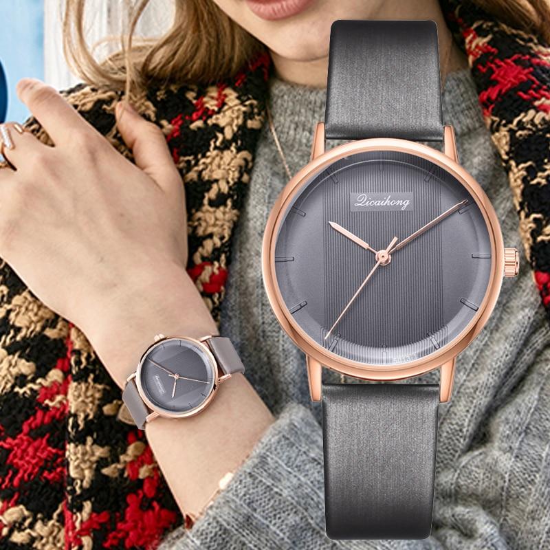 Women's Watch Casual Sports Quartz Leather Band Stripe Watch Analog Ladies Dress Creative Wrist Watch Drop Shipping Relogio