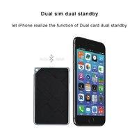 Ultrathinบลูทูธ4.0 Dual SIM Card Adapter 2นาโนซิมมินิDual Standbyไมโครซิมอะแดปเตอร์สำหรับiPhone X SE 5 5วินาที6 6วินาที7 8พลัส