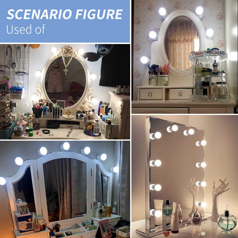 Led Makeup Mirror Light Led Vanity Light 6 10 14 Light Bulbs