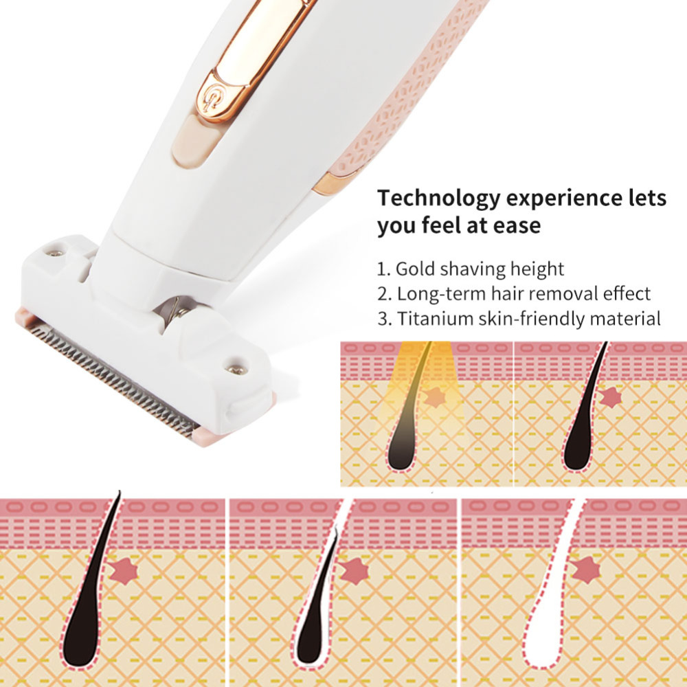 Hot USB Rechargeable Epilator for Man and Woman use Body Hair removal device Depilator Lady Shaving Trimmer in Party Favors from Home Garden