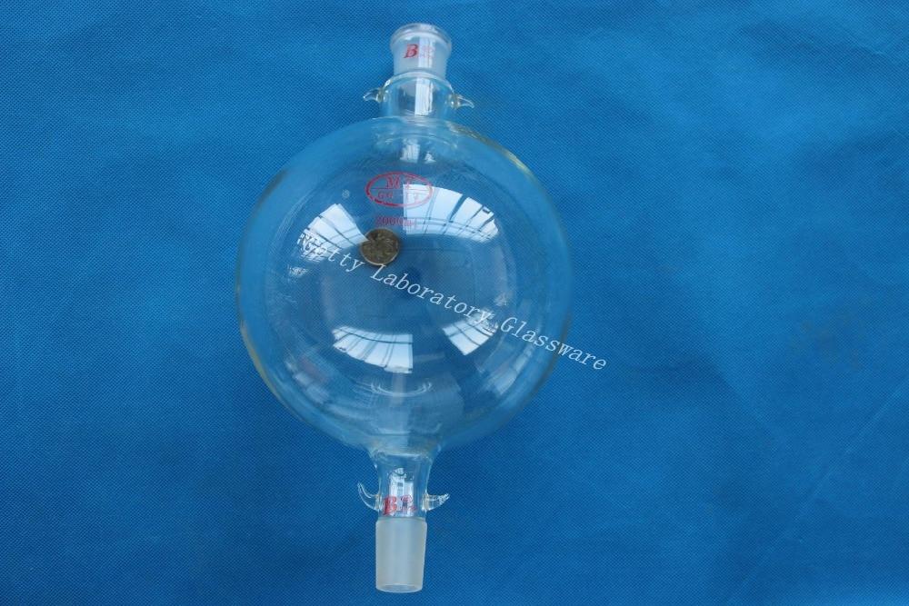 2000ml (2L) Chromatography Reservoir Flask, Both 24/29 Joints, Heavy Wall