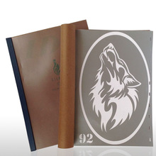 18 Designs Temporary Airbrush Tattoo Stencil Book Airbrush Stencils Template Booklet Book 18