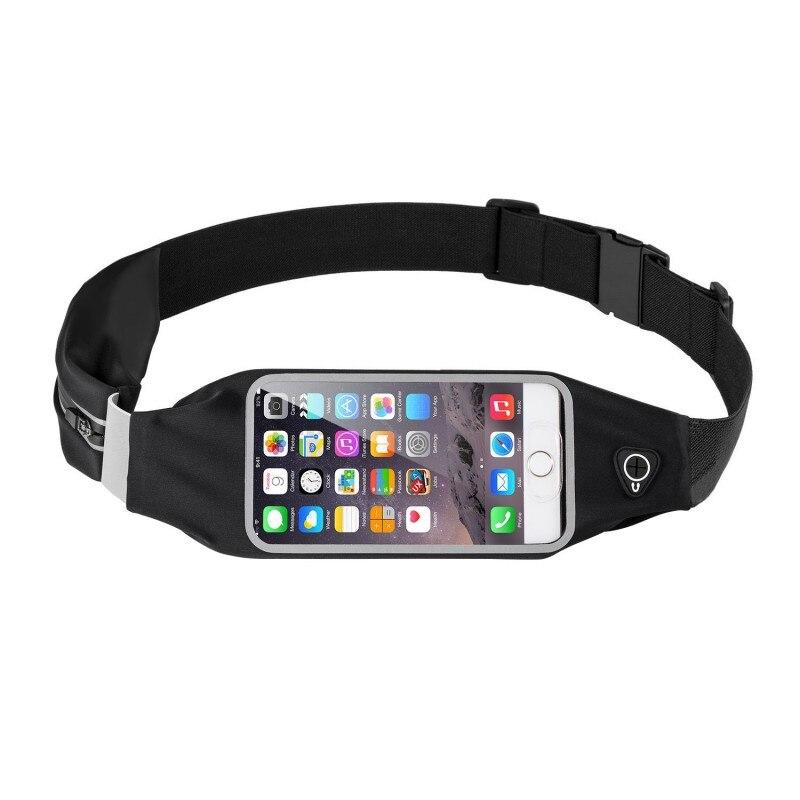 2018 Outdoor Sports Running Belt Phone Waist Bag Case Waterproof Hip Pouch Wallet Pocket Purse Gym