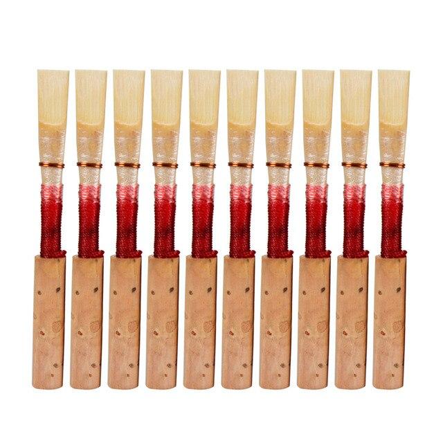 Pièce dinstrument de vent de roseau de hautbois naturel de qualité supérieure construite à la main rouge/noir choisir