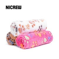 nicrew-40-x-60cm-cute-floral-pet-sleep-warm-paw-print-dog-cat-mat-puppy-fleece-soft-blanket-beds-pet-mats-sofas-pet-supplies