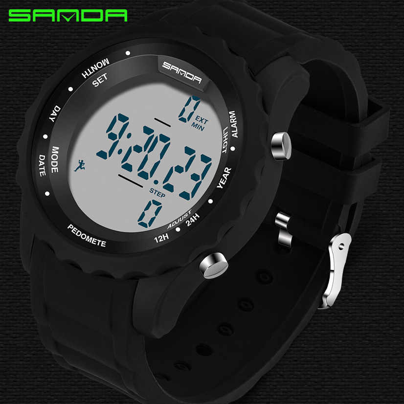 ef3e7d075cf ... SANDA Precision Step Fashion Men s Sport Watch Men LED Army Military  watches Dive Swim Outdoor Wristwatches ...