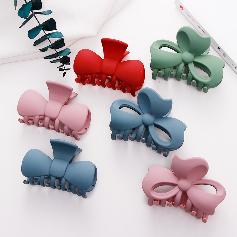 New Women Girls Candy Colors Scrub Bow Hair Claws Cute Sweet Headband Hair Clips Hairpins Barrettes Fashion Hair Accessories