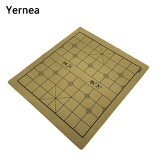Yernea High-quality Chinese Chessboard Traditional Chess Board Game Set Soft Suede Leather One side checkerboard