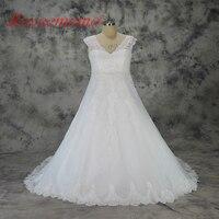 2018 vente chaude dentelle design plus taille De Mariage Robe bretelles robe De Mariée en gros grande taille de mariage robe usine directement