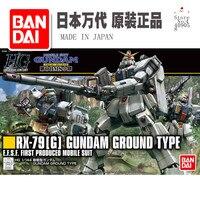 Original Bandai Assembled Model HGUC 1/144 RX 79[G] New Land Ward 08MS Team PVC Action Figure Kid Dolls Toys