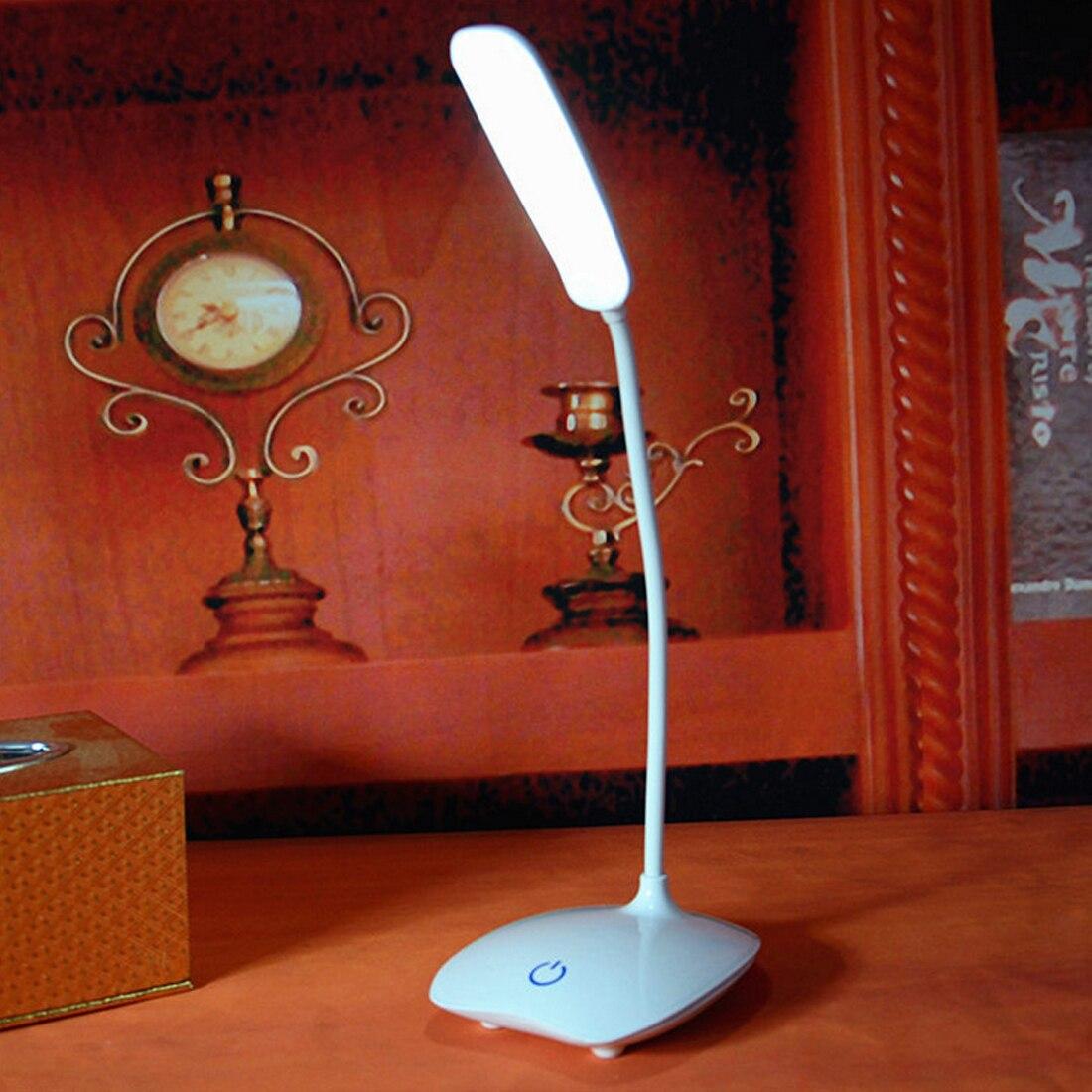 Escritorios LED recargables USB Lámpara de mesa intensidad ajustable luz de lectura Interruptor táctil lámparas de escritorio