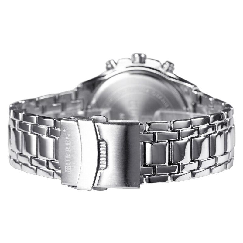CURREN zegarki mężczyźni Top marka luksusowa moda i Casual zegarki kwarcowe męskie klasyczne analogowe sportowe pasek stalowy zegar Relojes 4