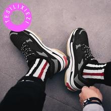 TESILIXIEZI Fashion Women Casual Shoes Sneakers Ladies White Trainers Platform Dad Female Flat Walking New Arriva