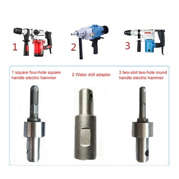 Drill Bit Earth Auger head Bit SDS 4 Slots Square Auger Drill Arbor Earth Drill Bit Adapter SDS Arbor for Electric Hammer 500mm sds max electric hammer impact drill bit total length 500mm