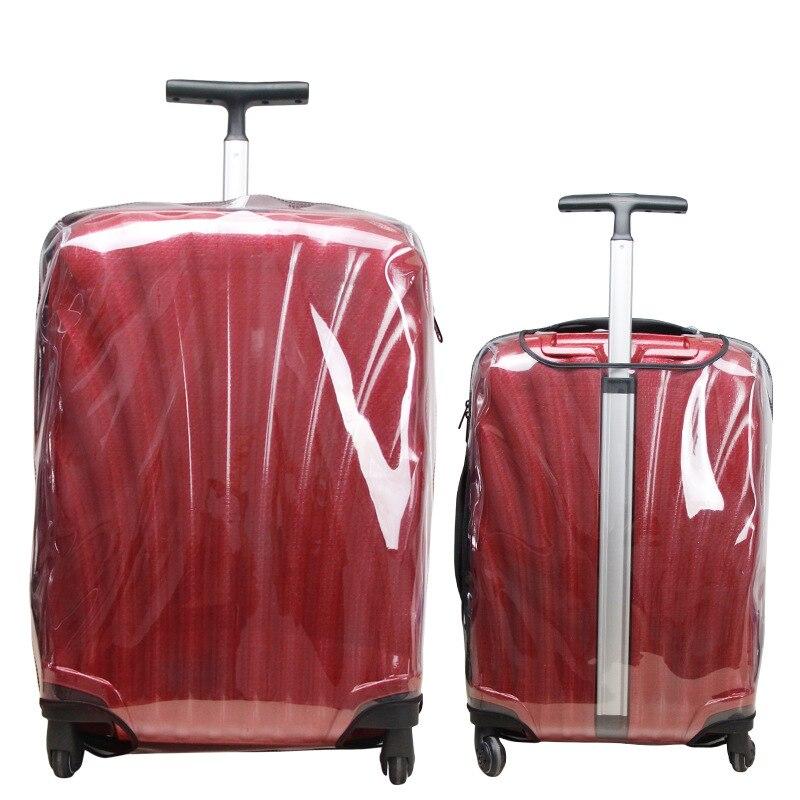 Engrossar transparente capa de bagagem para samsonite claro mala capas de proteção acessórios de viagem com zíper capa de bagagem de viagem