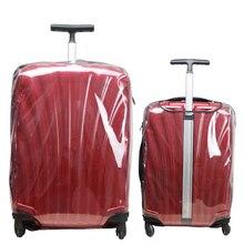 رشاقته شفافة غطاء الأمتعة ل Samsonite واضح حقيبة أغطية حماية إكسسوارات السفر سستة غطاء الأمتعة السفر
