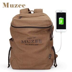 Image 1 - Muzee sac à dos en toile pour hommes, sacoche pour livres pour étudiants, grande capacité, sac à dos de voyage à la mode, Mochila mâle, nouvelle collection