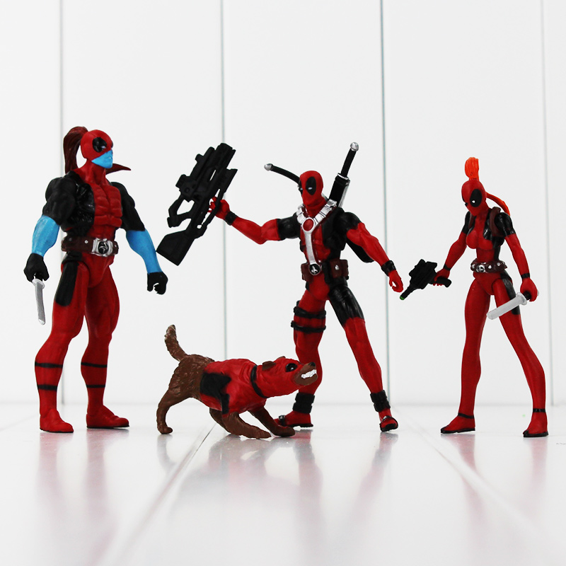 13cm Avengers DEADPOOL divertente UNICORNO Selfie 1//10 SCALA dipinto figura Unicorno