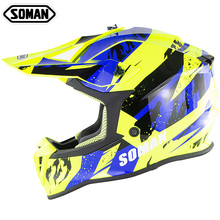 SOMAN SM633 Motorcycle Cross Country Capacetes Moto Casco ECE Motocross Off Road Helmet MX Dirt Bike Helmets стоимость