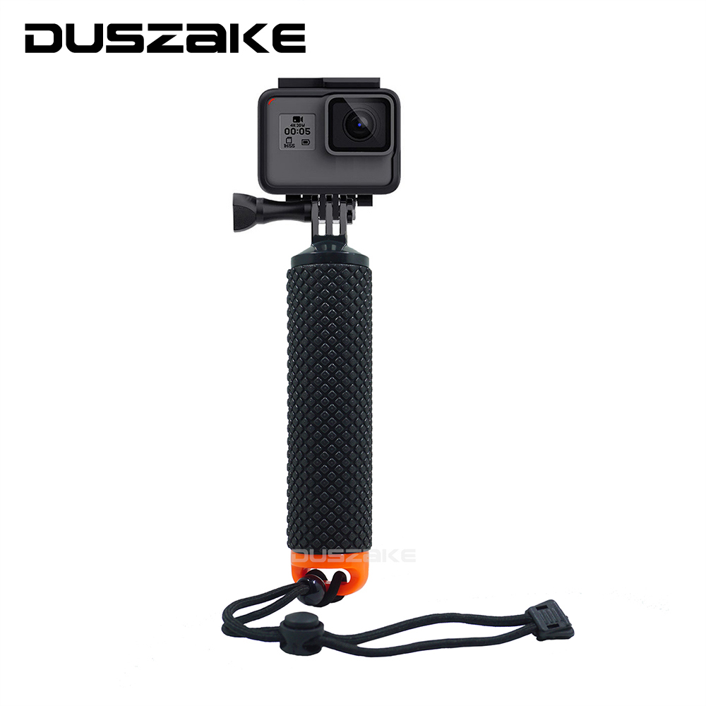 DUSZAKE DG06 For Gopro Hero 6 Floating Stick For Gopro 5 Camera Accessories Grip For Gopro Hero 6 Floaty For Xiaomi Yi 4K Eken 42mm parnis black dial multifunction sapphire glass black leather strap 26 jewels miyota 9100 automatic mens watch