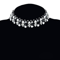 New Bohemia Lady Black Crystal Collar Chokers Necklaces Female Full Rhinestone Short Charm Necklace For Women