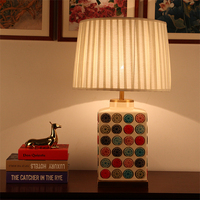 Chinese Style Psychedelic Ceramic Body Modern Table Lamps For Living Room Bedroom Bedside Table Lamps Luxry