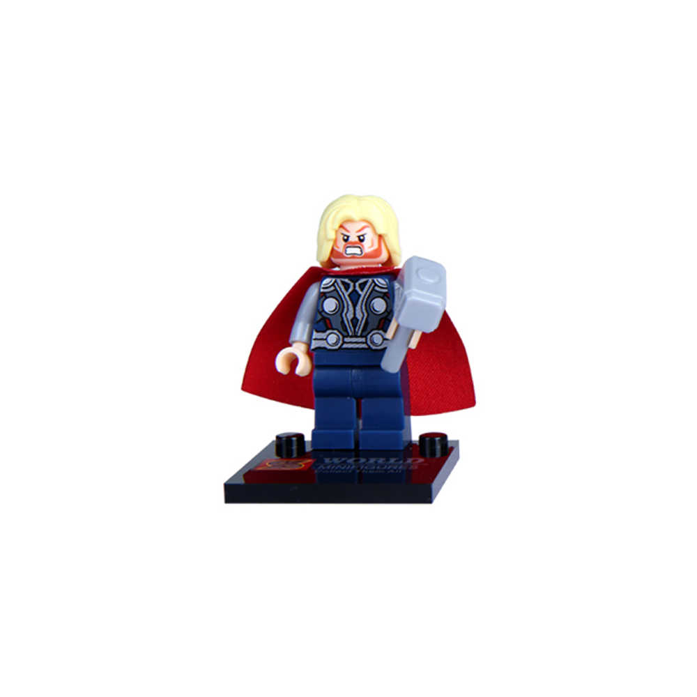 8pcs Super Heroes Marvel Avengers Legoed Thor Captain Ironman Wolverine Hulk Justice League Batman SuperMan Building Blocks Toys