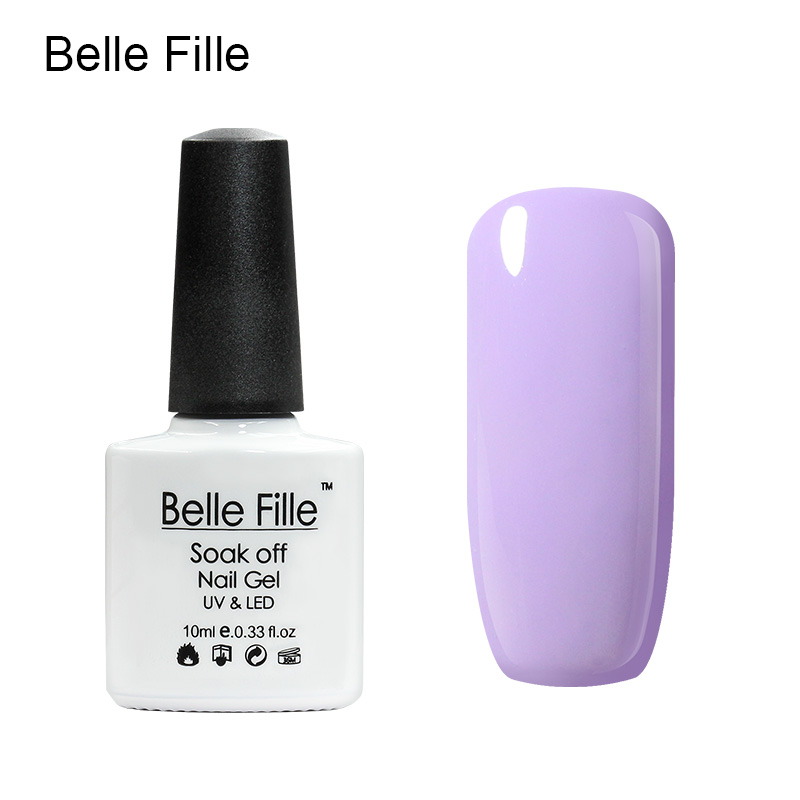 Belle Fille Gel Polish Paars Serie Kleur Coat UV LED Losweken - Nagel kunst - Foto 6