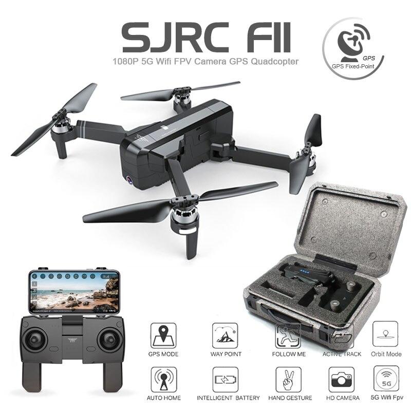 SJRC F11 GPS Drone Wifi FPV 1080 P cámara sin escobillas Quadcopter 25 minutos de tiempo de vuelo gesto Control plegable Dron del CG033