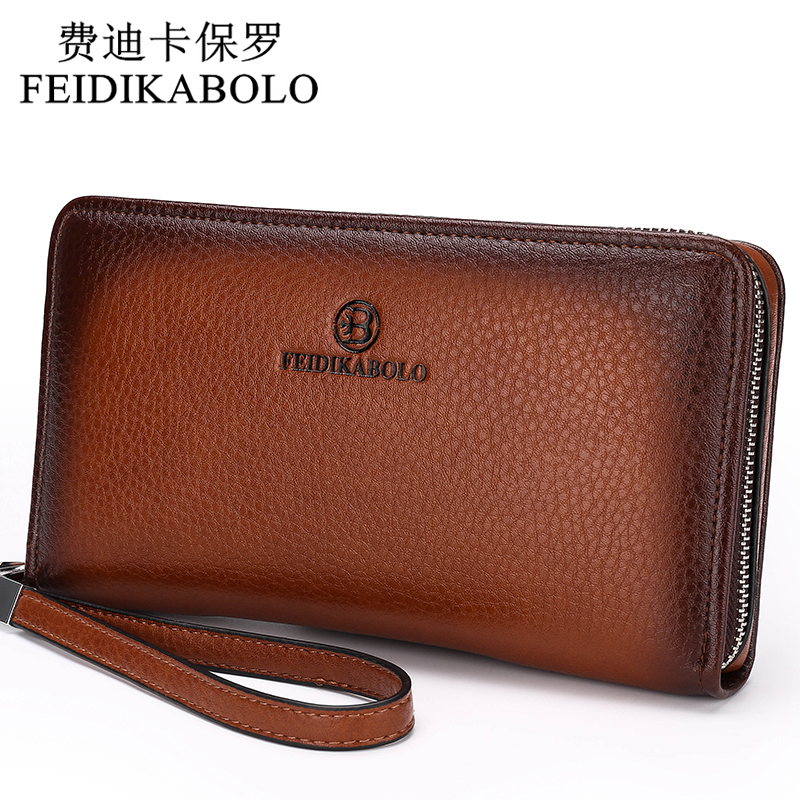 2016 Luxury Male Leather Purse Men's Clutch Wallets <font><b>Handy</b></font> Bags Business Carteras Mujer Wallets Men Black Brown Dollar Price