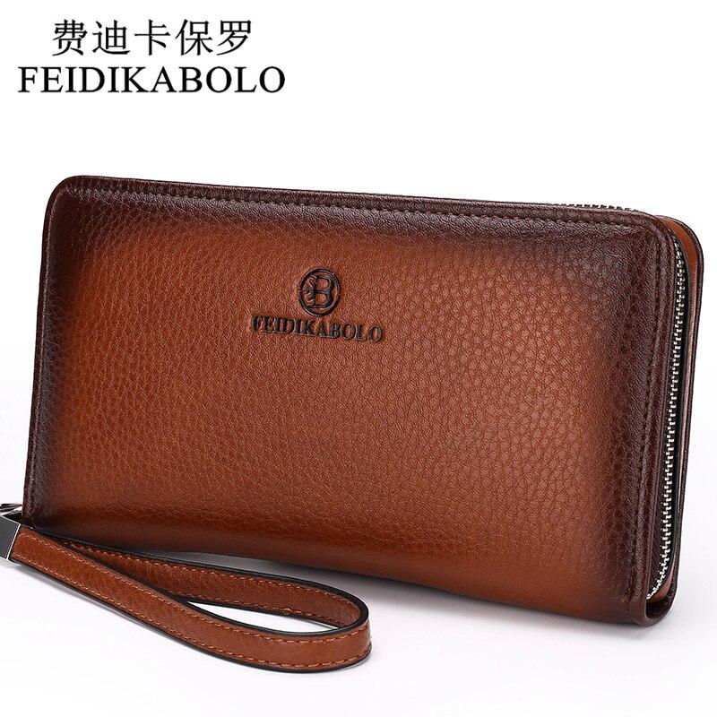 2018 Luxury Male Leather Purse Men's Clutch Wallets Handy Bags Business Carteras Mujer Wallets Men Black Brown Dollar Price