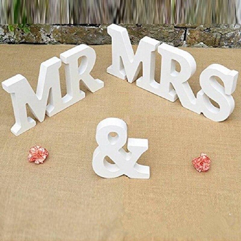 Новое поступление 3 шт. Свадебные украшения Mr & Mrs Mariage Декор День рождения украшения белые буквы свадьба знак