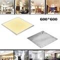 2 шт. квадратный светодиодный потолочный светильник 600X600 36 Вт Холодный теплый белый aluminum алюминиевая рамка; Лицевая панель светодиодный све...