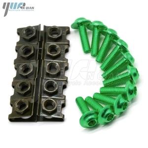 Image 4 - 10 pieces 6mm motorcycle fairing body screws for suzuki gsf 600 sv650s  bandit 400 drz 400 gsr dl 650 TL1000R  SV1000 S