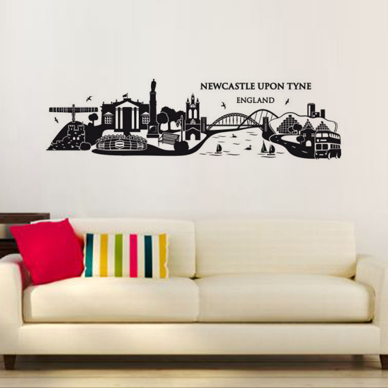Garden Decor Newcastle: DCTOP Newcastle Upon Tyne England Wall Decal Large Size